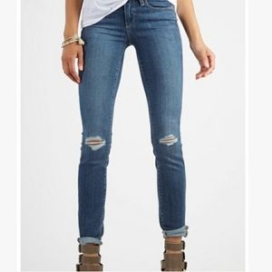 Paige Kylie Crop Distressed Skinny Jeans